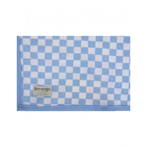 KORANGO - Baby Check Cotton Wrap - Blue