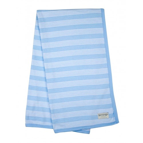 KORANGO - Baby Stripe Cotton Wrap - Blue