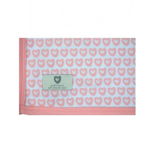 KORANGO - Baby Hearts Cotton Wrap - Pink