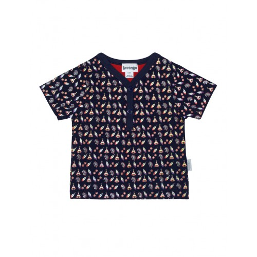 KORANGO - LIttle Indian Print Tee - Navy