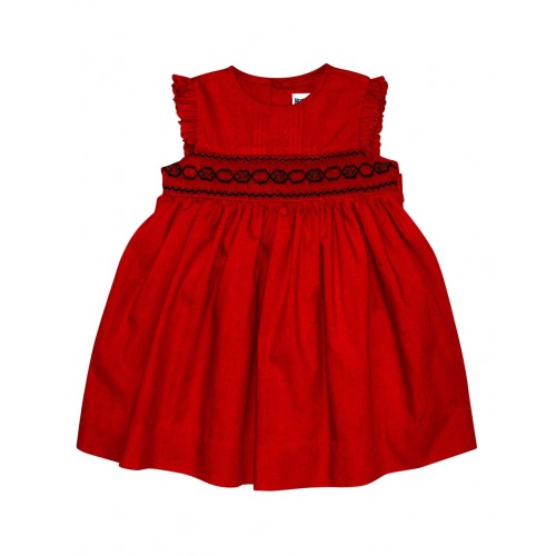 KORANGO - Festive Smocked Dress - Red